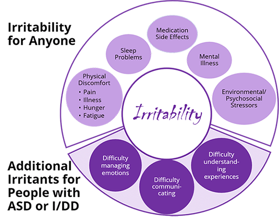 Irritability chart of contributing factors